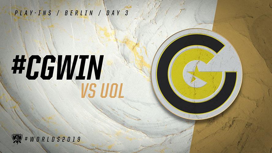 CG vs UOL (Tiebreaker) - vòng khởi động cktg 2019 ngày 04/10/2019