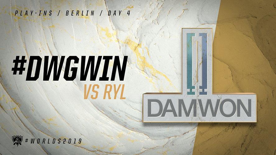 DWG vs RYL - vòng khởi động cktg 2019 ngày 05/10/2019