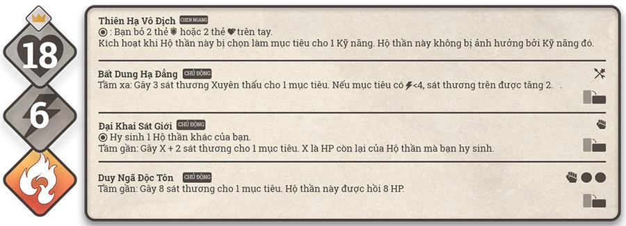 Kĩ năng của Kinh Dương Vương trong game Sử Hộ Vương