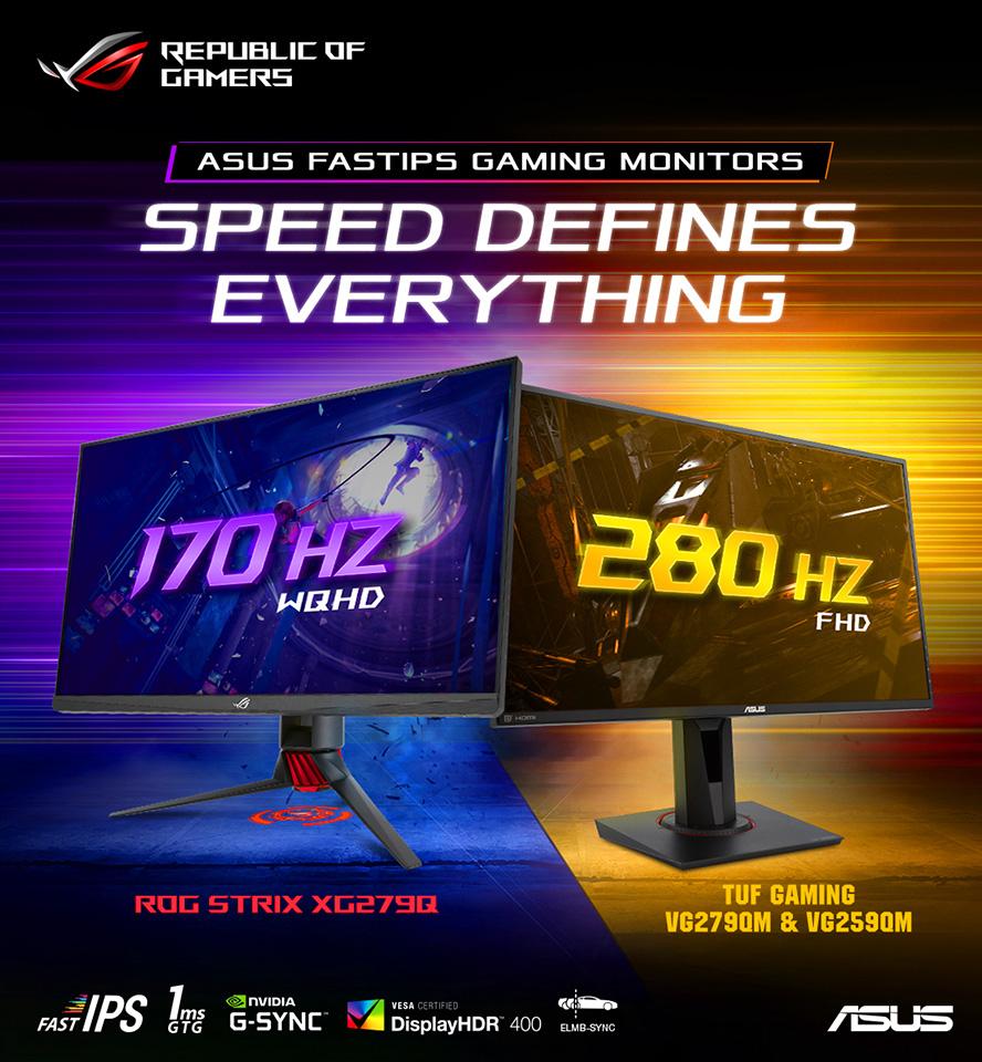 ASUS ra mắt màn hình có tần số quét lên đến 280Hz