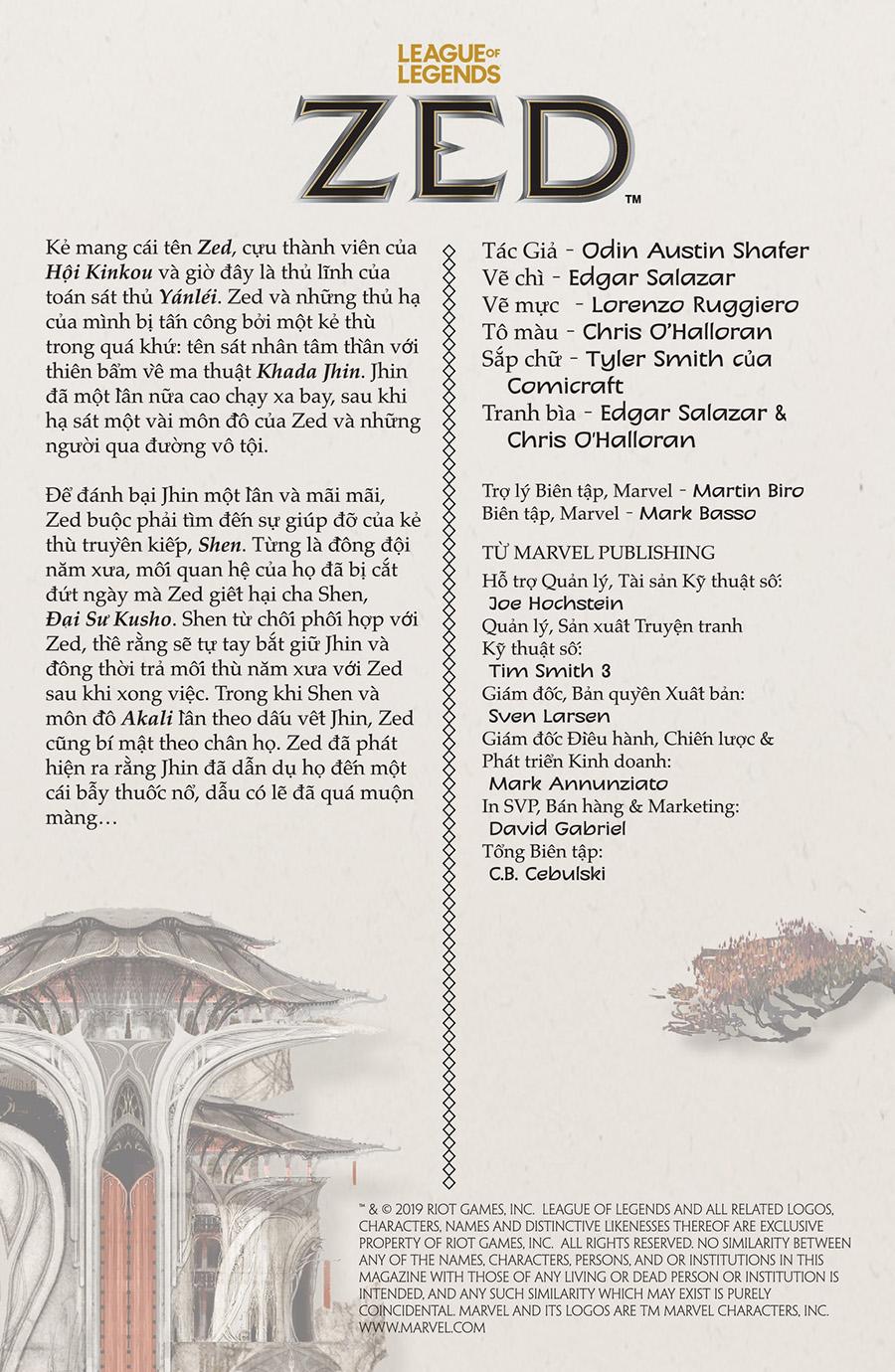 Truyện tranh Zed Kỳ 4 Trang 03