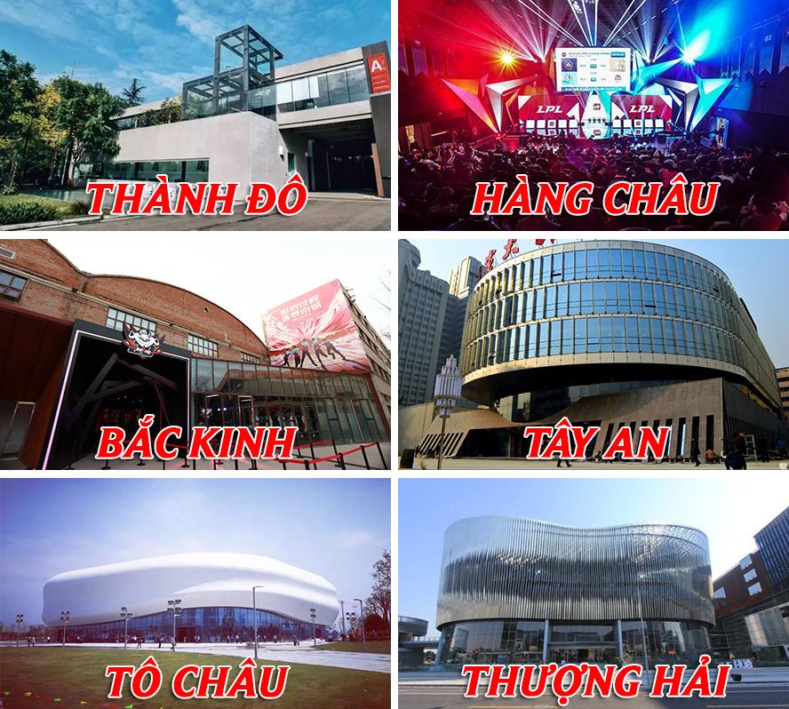 Các địa điểm thi đấu LPL Mùa Xuân 2020