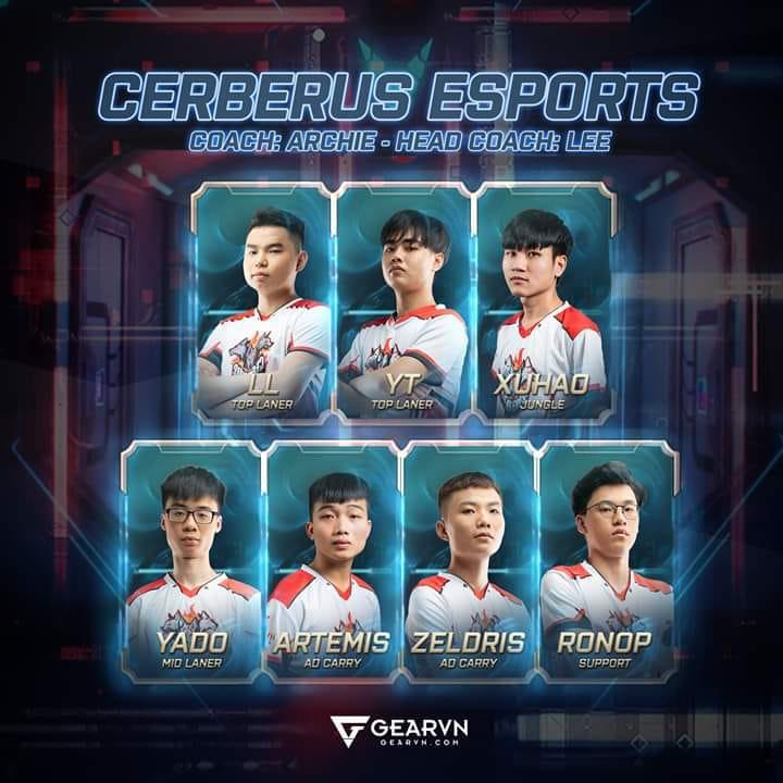 Đội hình tham dự VCS Mùa Xuân 2020 của Cerberus Esports