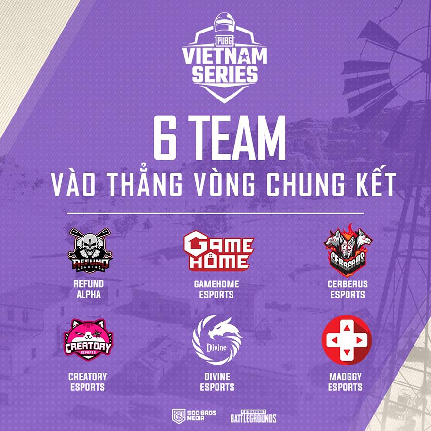 Các đội tuyển tham dự Final Stage PVS Spring 2020