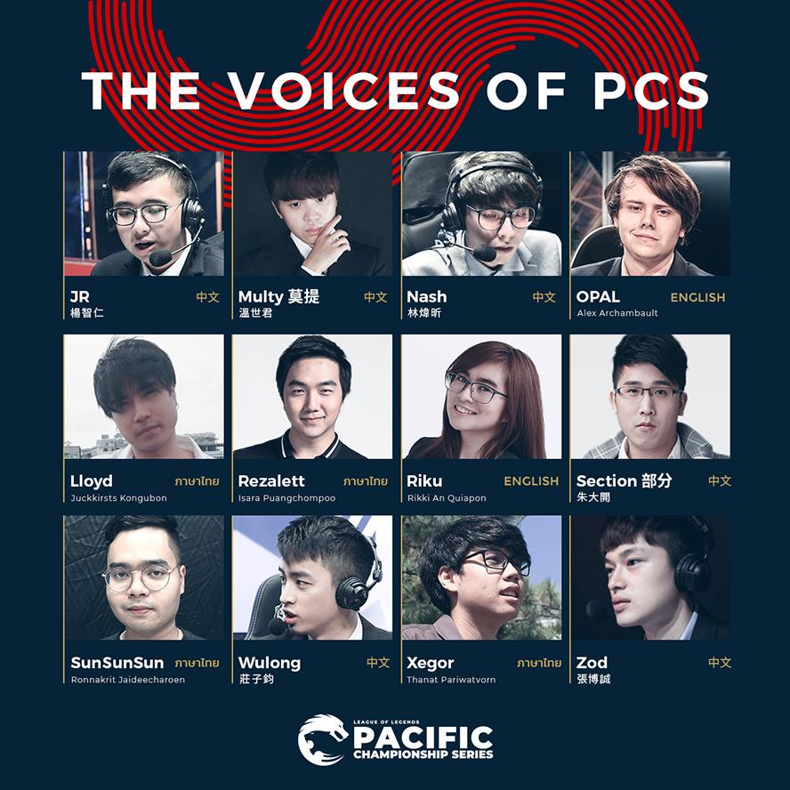 Danh sách bình luận viên của PCS Mùa Xuân 2020