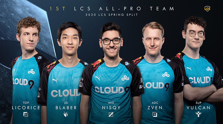 Cloud9 là đội hình xuất sắc nhất LCS Mùa Xuân 2020.