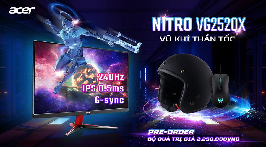 Khuyến mãi Predator XB253Q GX và Nitro VG252QX
