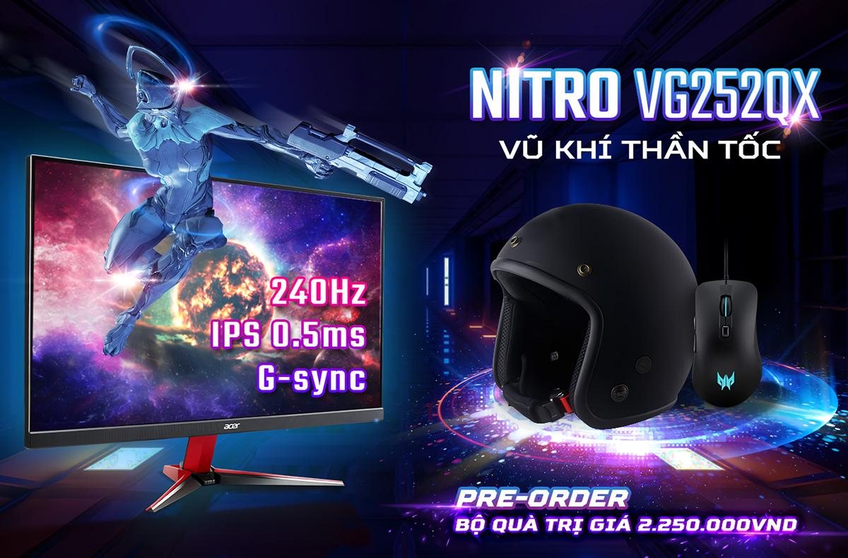 Acer đưa Predator XB253Q GX và Nitro VG252QX về Việt Nam