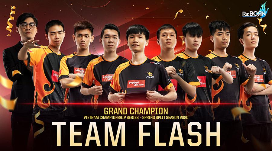 Team Flash là nhà vô địch của VCS Mùa Xuân 2020.