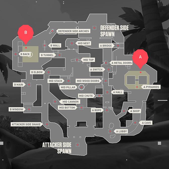 Bản đồ Breeze Valorant - Hình ảnh 1