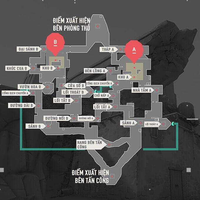 Bản đồ Bind trong Valorant - Hình ảnh 01