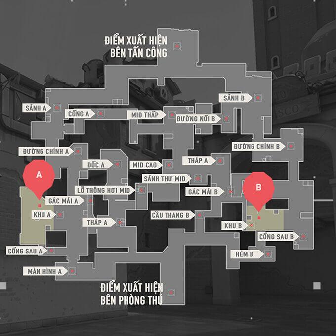 Bản đồ Split trong Valorant - Hình ảnh 01