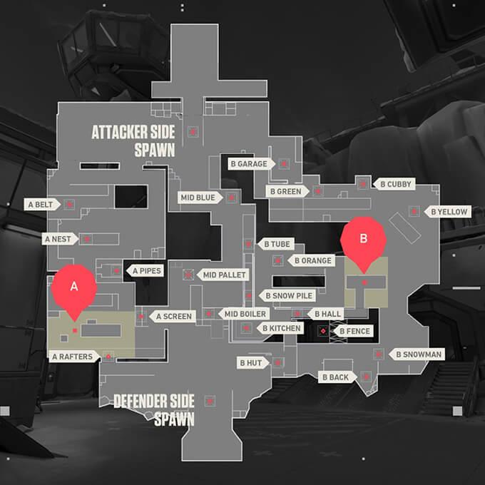 Bản đồ Icebox trong Valorant - Hình ảnh 1