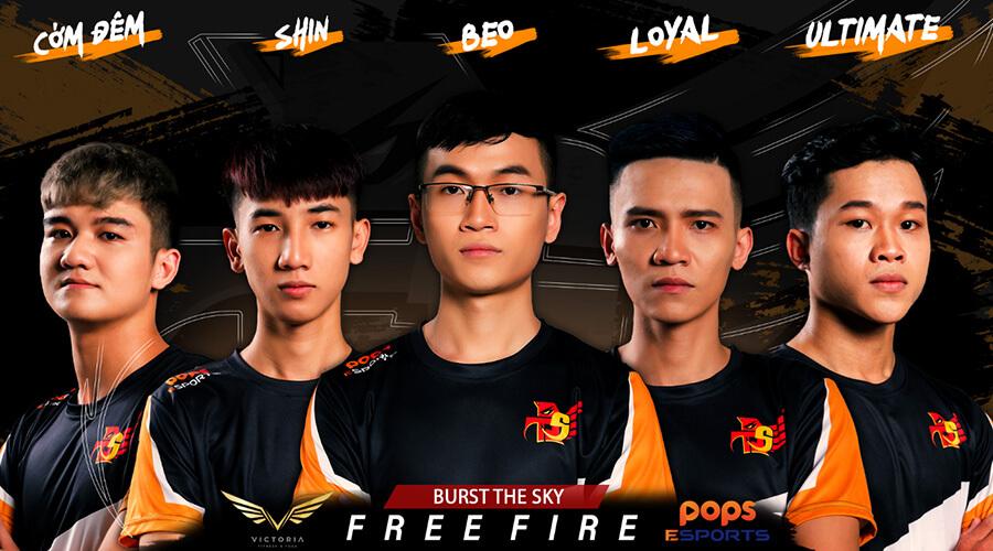 Danh sách các thành viên của đội tuyển Free Fire Burst The Sky