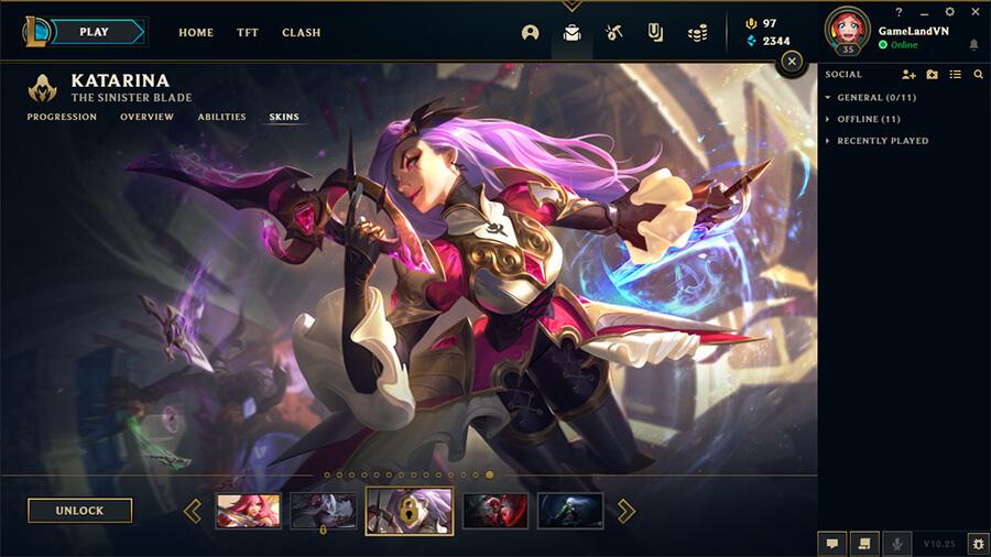 Katarina Nữ Thần Chiến Binh Splash Art