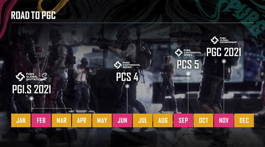 PUBG sẽ có thêm 3 giải đấu quốc tế trong năm 2021