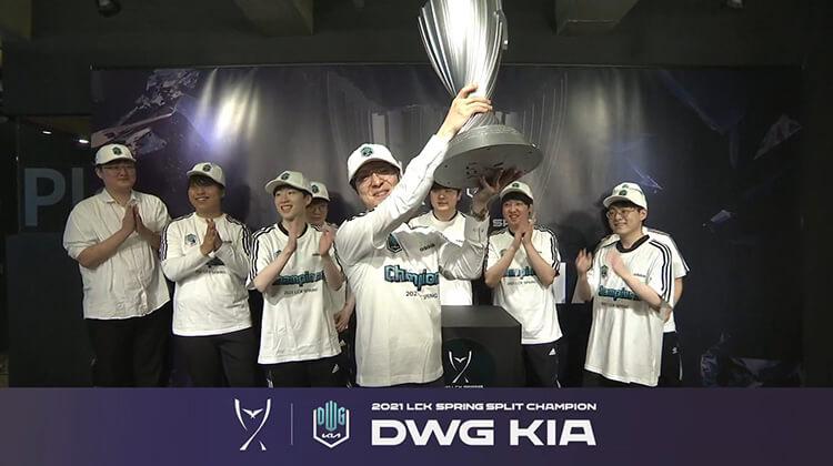 DWG KIA là nhà vô địch LCK Mùa Xuân 2021.