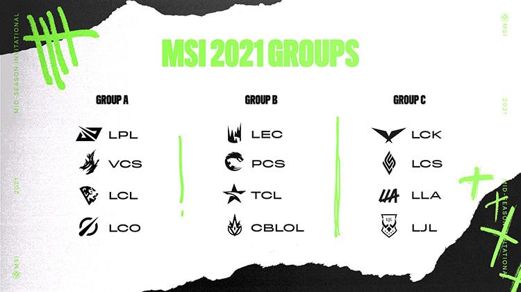 Kết quả chia bảng vòng 1 MSI 2021