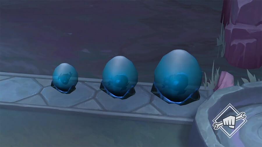 Mỗi vòng đấu được kích hoạt, Long Tộc sẽ cho bạn thêm một quả trứng vào hàng chờ