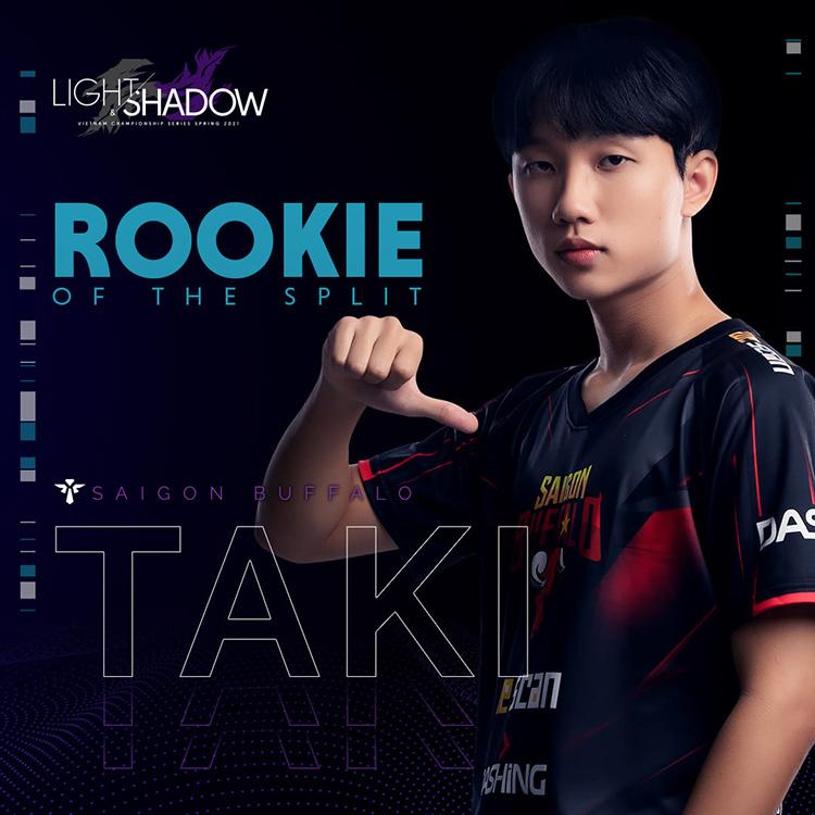 Taki được vinh danh ở hạng mục Tài năng trẻ của mùa giải