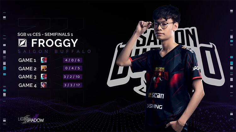 Froggy là MVP trong trận đấu giữa SGB và CES