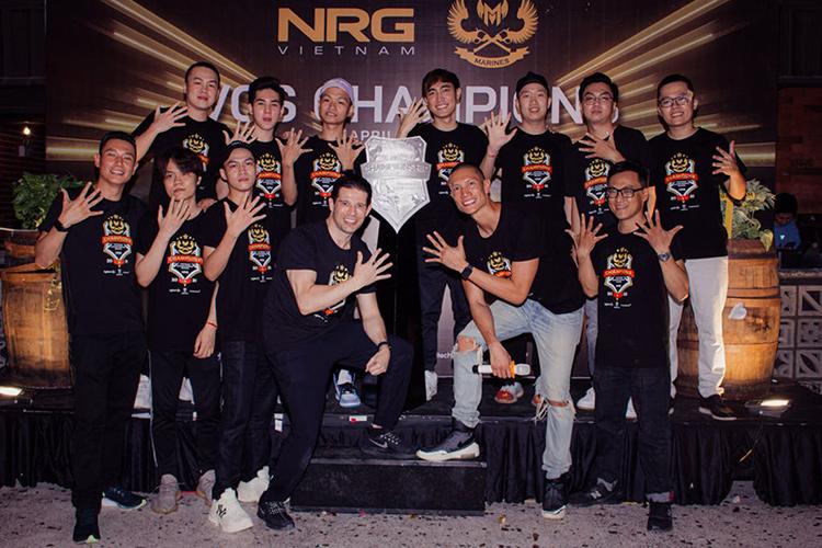 Chủ tịch CMG.ASIA cùng CEO NRG Asia và các thành viên GAM tại buổi chào mừng GAM gia nhập NRG Asia.