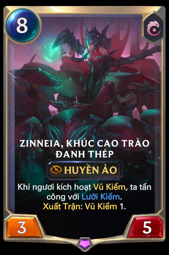 Zinneia, Khúc Cao Trào Đanh Thép