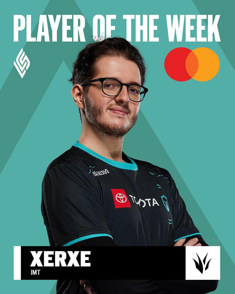 IMT Xerxe là tuyển thủ xuất sắc nhất tuần 1