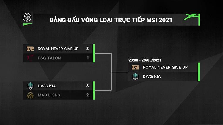 Trận chung kết MSI 2021 gọi tên RNG và DK