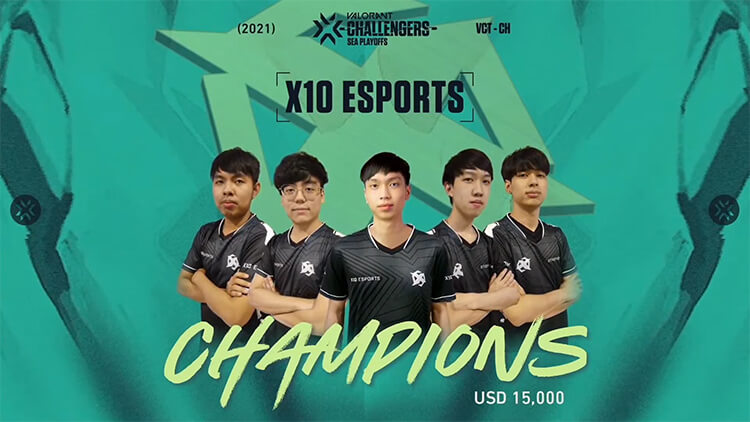X10 Esports là nhà vô địch của SEA Stage 2 Challengers