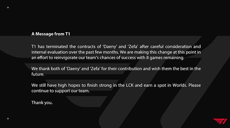 Thông báo chấm dứt hợp đồng với hai huấn luyện viên Daeny và Zefa