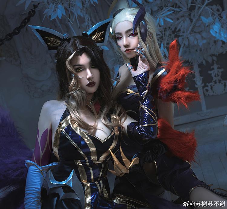 Cosplay Evelynn và Ahri Tiên Hắc Ám tuyệt đẹp từ Trung Quốc - Hình ảnh 3