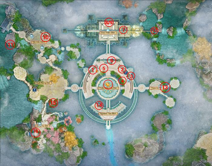 16 vị trí tìm tàng phẩm tại Bộ Vân Châu.