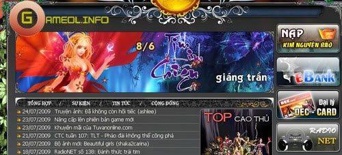 Sắc màu Radio trong các Game Online 2