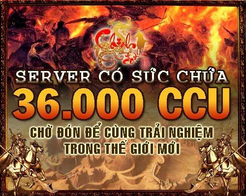Chinh Đồ: Mở Server có sức tải 36.000 CCU 2