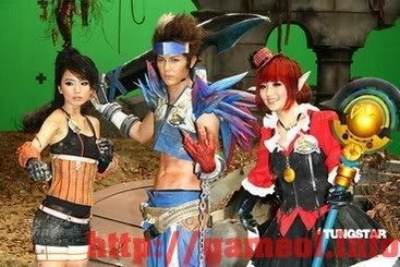 S.H.E trong trang trang phục cosplay Dungeon and Fighter 2